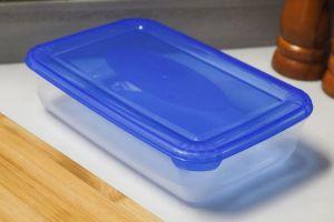 plastová dóza obdélníková s poloprůhledným víkem 0,9 l Smart Cook