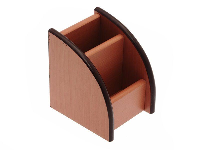 Dřevěný stojan na kancelářské potřeby 10x10x11 cm Teamstar
