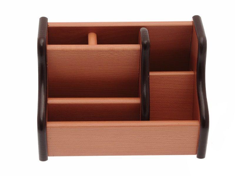 Dřevěný stojan na kancelářské potřeby 17x11x11 cm Teamstar