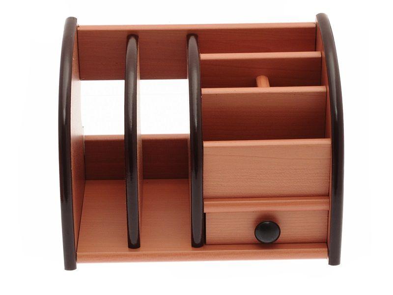 Dřevěný stojan na kancelářské potřeby 20x13x15cm Teamstar