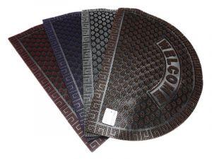 Gumová vstupní rohožka 39 x 59 cm půlkruhová WELCOME