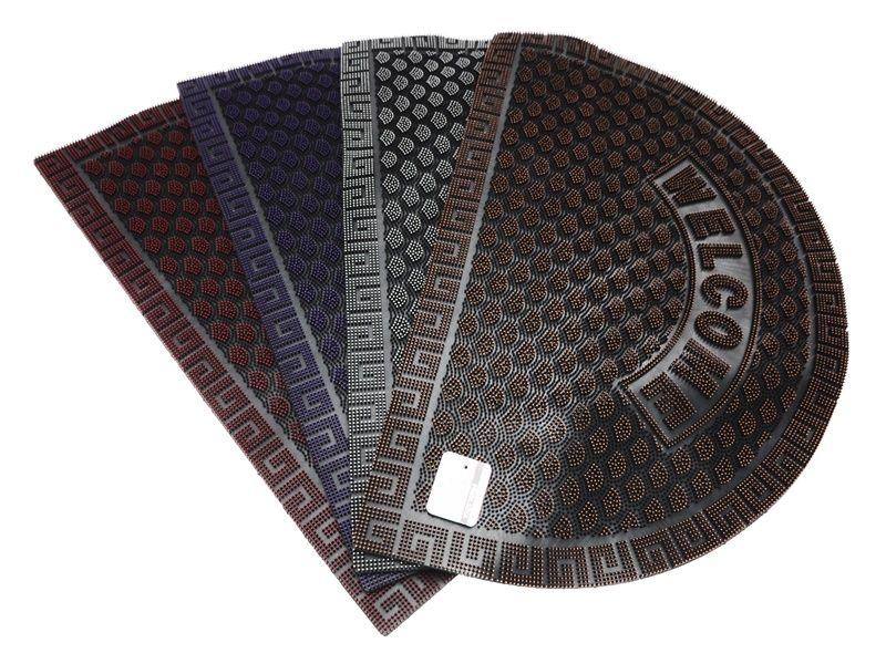 Gumová vstupní rohožka 39 x 59 cm půlkruhová WELCOME Unihouse