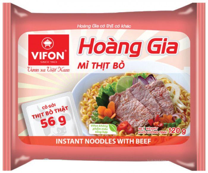 Instatní nudle Hoang Gia Hovězí 120g Vifon