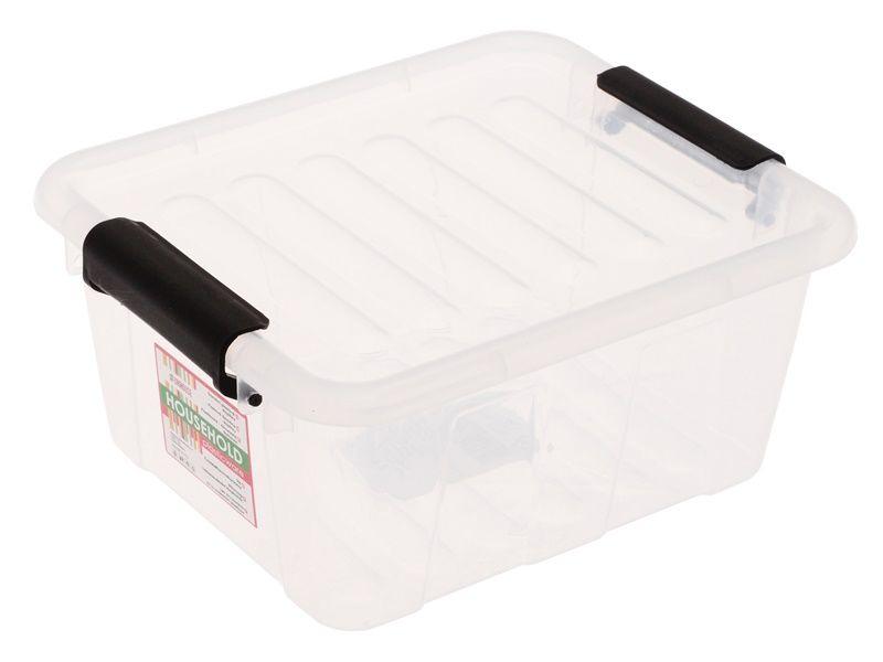 Průhledný úložný box s víkem na klip 2 l Unihouse