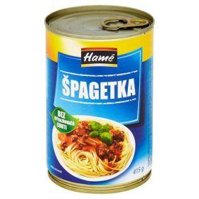 Hamé Špagetka masová směs hotové jídlo 415g
