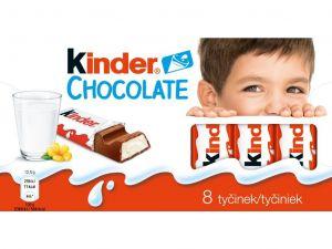 Kinder Chocolate tyčinky z mléčné čokolády s mléčnou náplní 100g