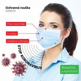 Ústní rouška, respirační chirurgická rouška 50 ks