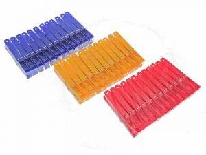 Kolíčky na prádlo plastové 10cm 12ks