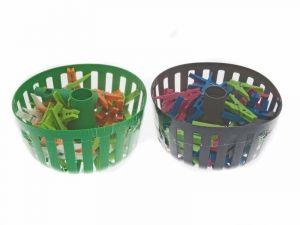 Závěsný košík s kolíčky na prádlo 40ks