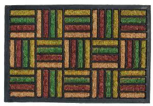 Kokosová gumová vstupní rohožka 40 x 60 cm barevná