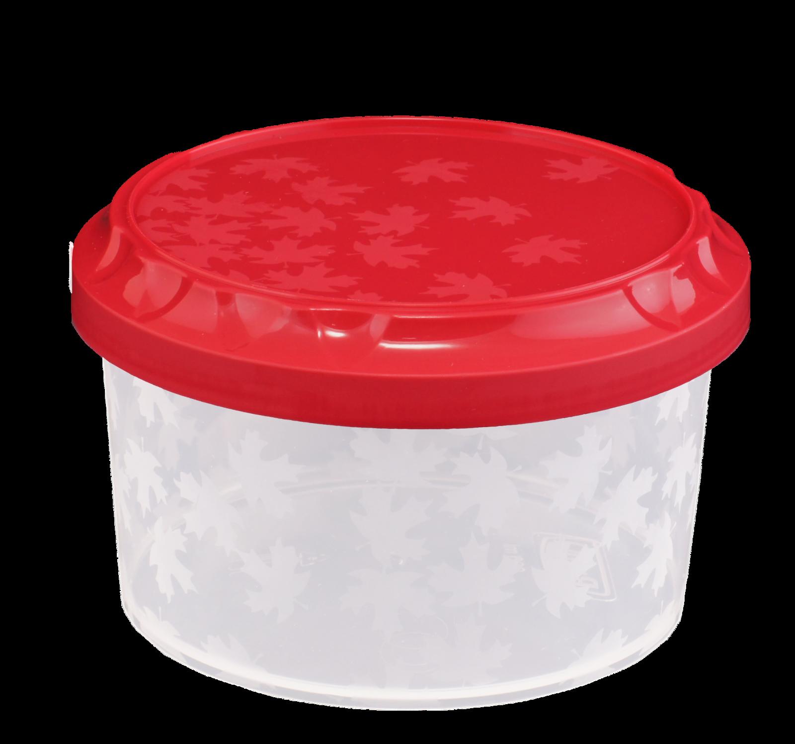 Kulatá dóza na potraviny se závitem 0,6L Smart Cook