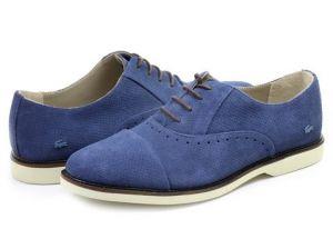 Rene Prep kožené boty - Tmavě modré