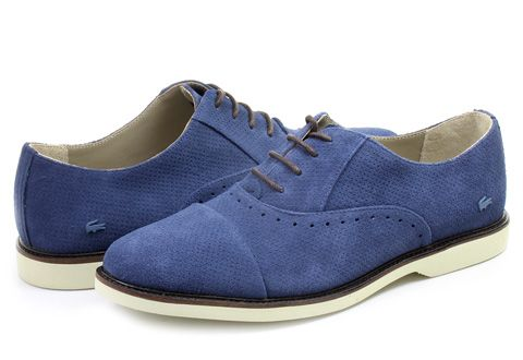 Rene Prep kožené boty - Tmavě modré LACOSTE