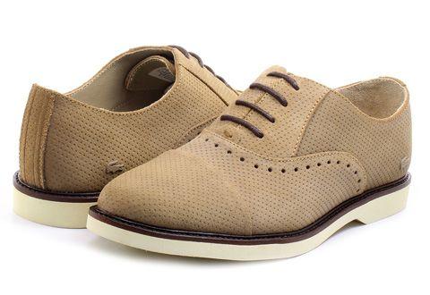 Rene Prep kožené boty - Světle hnědé LACOSTE